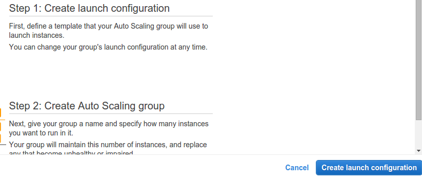 AWS Launch Configuration Console