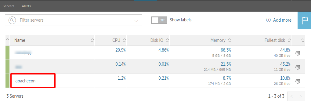 All servers   New Relic1