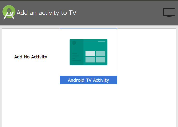 Add Activity to TV