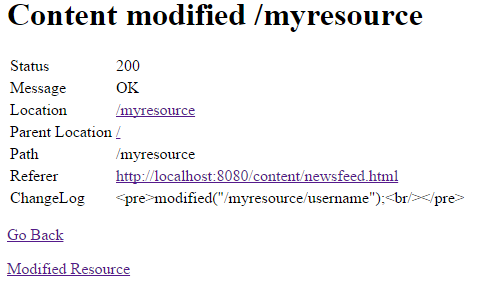 Content modified  myresource