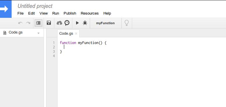 Google Script Editor IDE