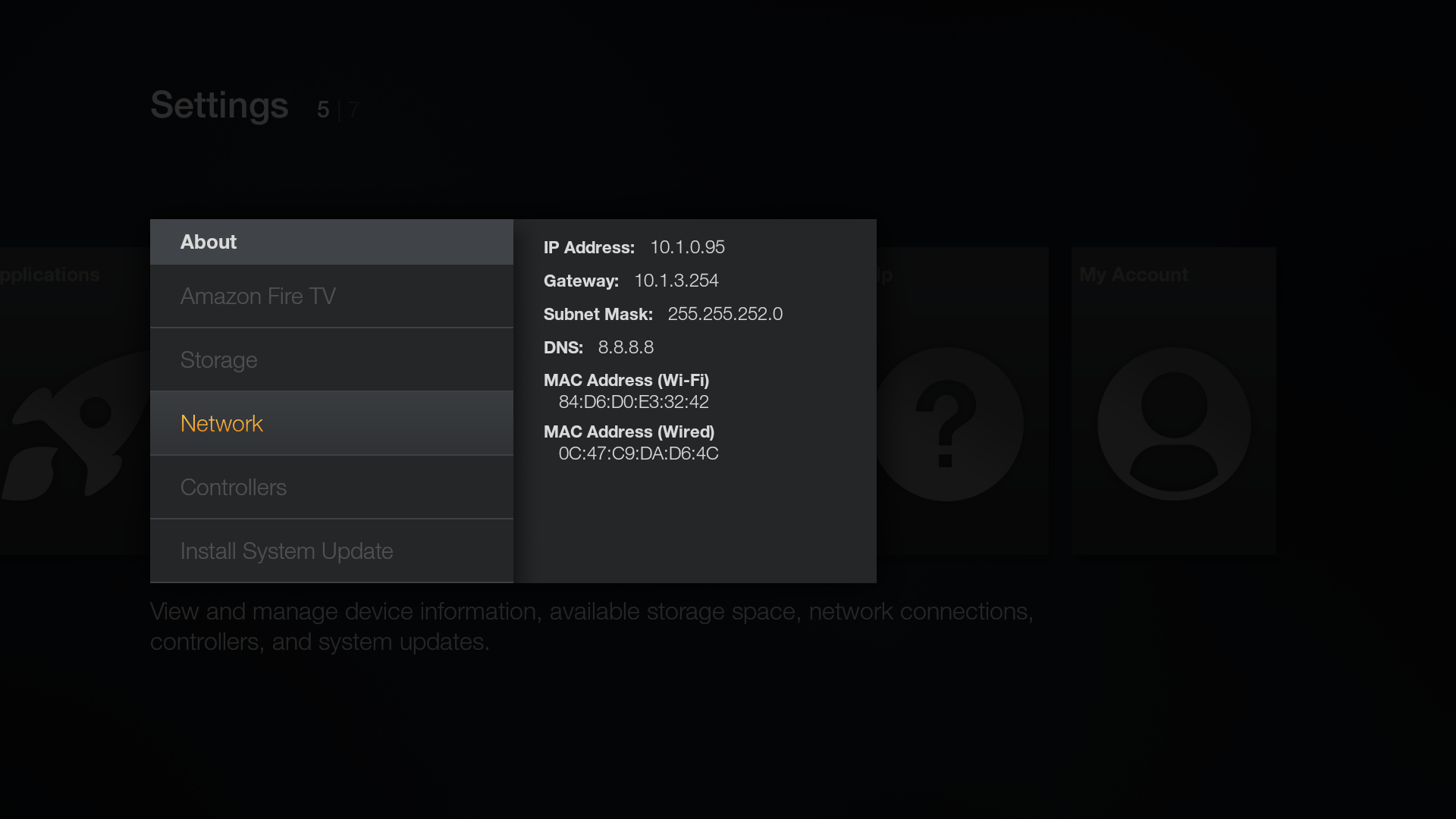 Get the IP of Fire TV