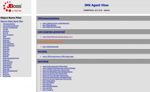 JMX console JBOSS